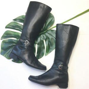 Etienne Aigner Riding Boots E-Kline Black 8.5